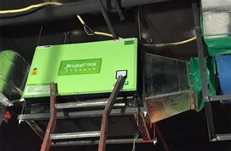 徐州娘家人餐厅8000风量油烟净化器安装案例